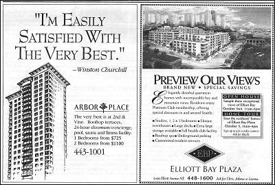 luxury apt ads, 1992